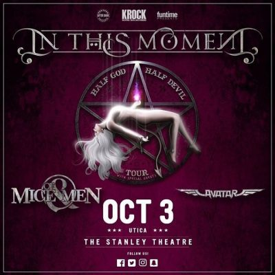 In This Moment with Of Mice & Men and Avatar @ Stanley Center for the Arts | Utica | NY | United States