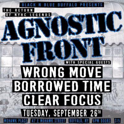 BNB Buffalo presents Agnostic Front! @ Mohawk Place | Buffalo | NY | United States