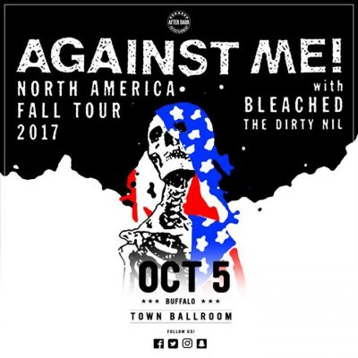 Tonight - Against Me! - Oct 5 at Town Ballroom @ Town Ballroom | Buffalo | NY | United States