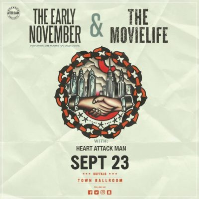 This Saturday - The Early November & The Movielife - Sept 23 @ Town Ballroom | Buffalo | NY | United States