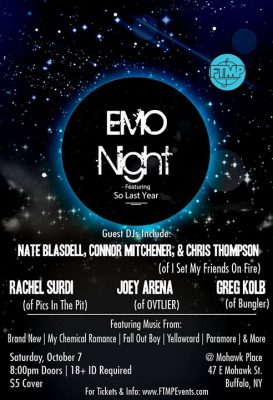 Emo Night - Buffalo @ Mohawk Place | Buffalo | NY | United States
