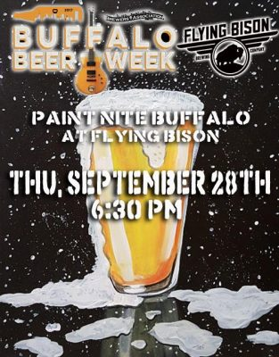 Paint Nite: Flying Bison Beer Week Edition @ Flying Bison Brewing Company | Buffalo | NY | United States