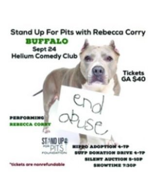 Stand Up for Pits! Sep 24th @ Helium Comedy Club -  Buffalo   Buffalo   NY   United States