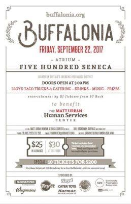 Buffalonia Celebration at Five Hundred Seneca - Fri Sept 22nd @ Five Hundred Seneca   Buffalo   NY   United States