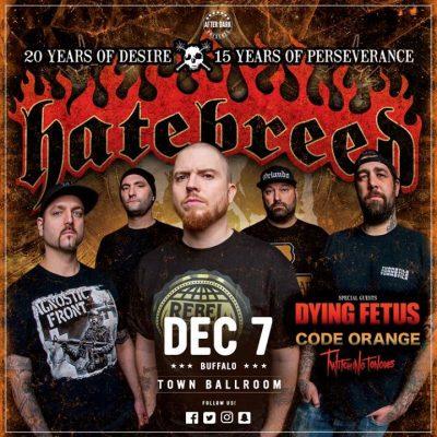New Venue - Hatebreed - Dec 7 at Town Ballroom @ Town Ballroom | Buffalo | NY | United States
