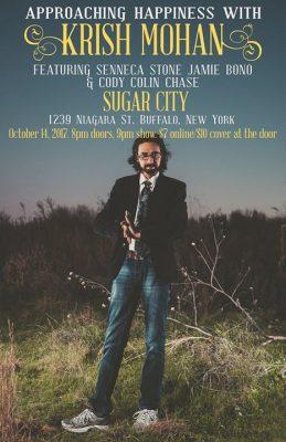 Approaching Happiness with Krish Mohan (Buffalo) @ Sugar City | Buffalo | NY | United States