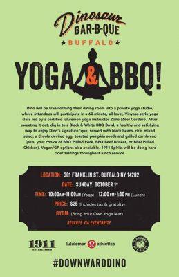Yoga & BBQ (Buffalo, NY) 10/1 @ Dinosaur BBQ - Buffalo NY   Buffalo   NY   United States