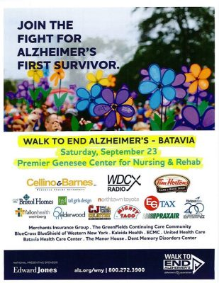 Walk To End Alzheimer's - Batavia @ Premier Genesee Center for Nursing and Rehabilitation   Batavia   NY   United States