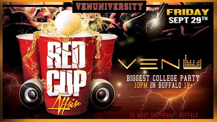 #VENUniversity Red Cup Affair- 18+ College Party | Guestlist 9.29 @ VENU | Buffalo | NY | United States