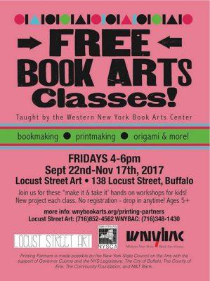 Free Book Arts Classes at Locust Street Art @ Locust Street Art | Buffalo | NY | United States