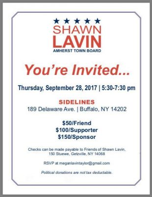 Shawn Lavin for Town Board @ Sidelines Sports Bar and Grill | Buffalo | NY | United States