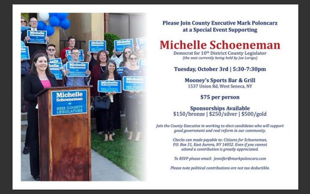 Fundraiser to Support Michelle Schoeneman for Erie County