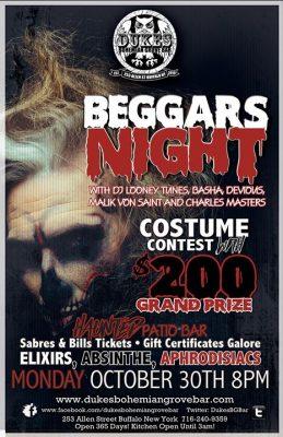 $200 Beggar's Night 7th Annual at DBGB @ Duke's Bohemian Grove Bar | Buffalo | NY | United States
