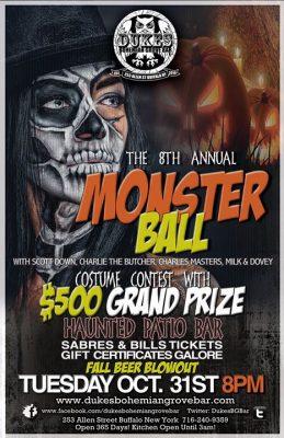 $500 Monster Ball 8th Annual at DBGB @ Duke's Bohemian Grove Bar | Buffalo | NY | United States