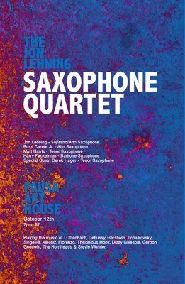 The Jon Lehning Saxophone Quartet @ Pausa Art House | Buffalo | NY | United States