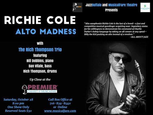 JazzBuffalo and MusicalFare Presents Jazz Legend Richie Cole @ MusicalFare Theatre | Amherst | NY | United States