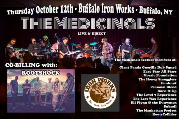 Tonight: Root Shock & The Medicinals at Buffalo Iron Works @ Buffalo Iron Works | Buffalo | NY | United States