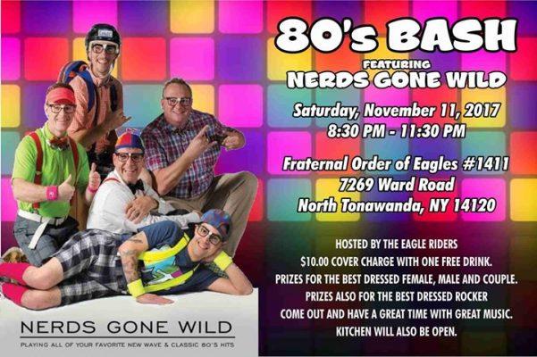 80's Bash With Nerds Gone Wild @ Fraternal Order of Eagles #1411 | North Tonawanda | NY | United States