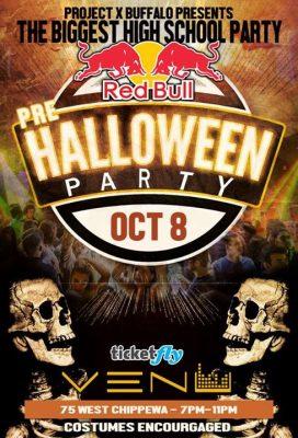 Redbull x Project Buffalo - Halloween High School Party -10/8 @ VENU   Buffalo   NY   United States