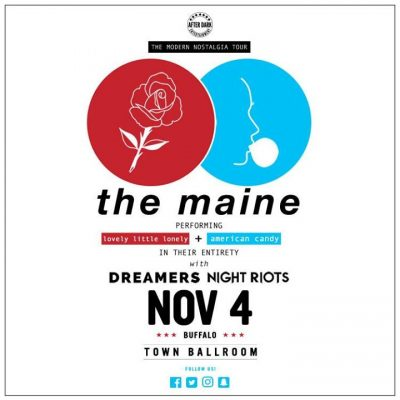 The Maine with Dreamers - Nov 4 at Town Ballroom @ Town Ballroom | Buffalo | NY | United States