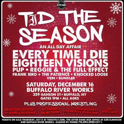 SOLD OUT - Every Time I Die - Dec 16 at Buffalo Riverworks @ Buffalo RiverWorks | Buffalo | NY | United States