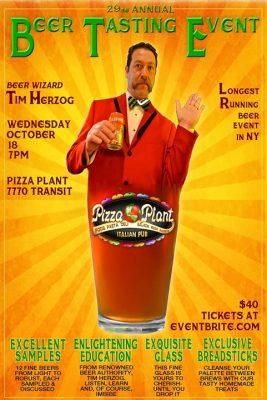 Annual Tim Herzog Beer Tasting @ Pizza Plant Italian Pub - Williamsville | Williamsville | NY | United States