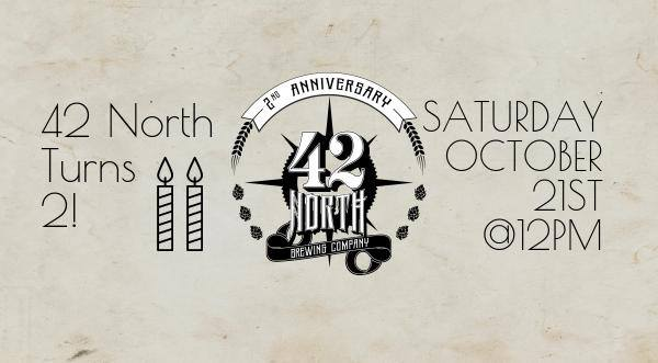 2nd Anniversary Taproom Party @ 42 North Brewing Company | East Aurora | NY | United States