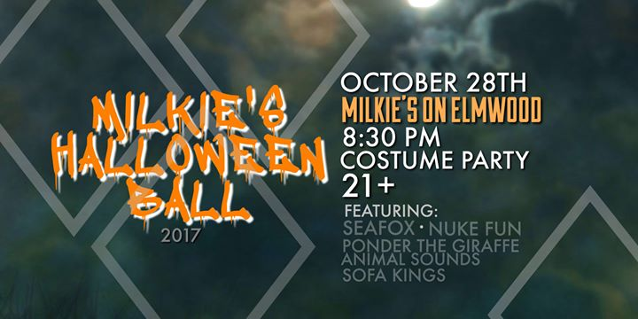 Milkie's Halloween Ball 2017: ft. Seafox, Nuke Fun and more! @ Milkie's on Elmwood. | Buffalo | NY | United States