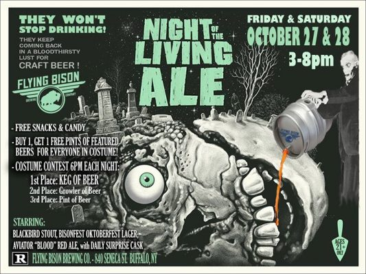 Night of the Living Ale at Flying Bison @ Flying Bison Brewing Company | Buffalo | NY | United States