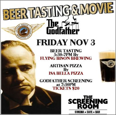 Godfather Beer Tasting & Movie! @ the screening room cinema cafe | Amherst | NY | United States