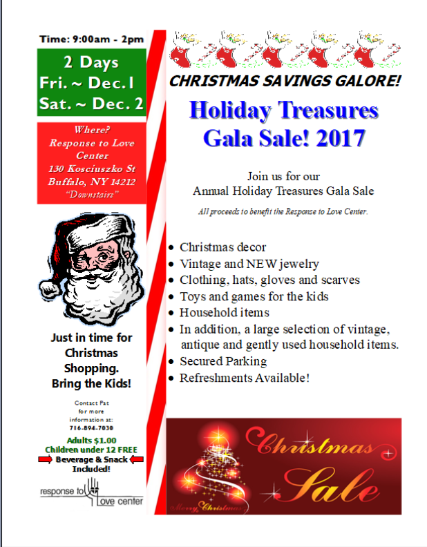 Response to Love Center 2017 Christmas Gala Sale