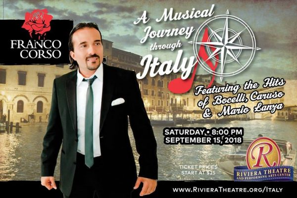 A Musical Journey Through Italy - On Sale Now @ Riviera Theatre and Performing Arts Center | North Tonawanda | NY | United States