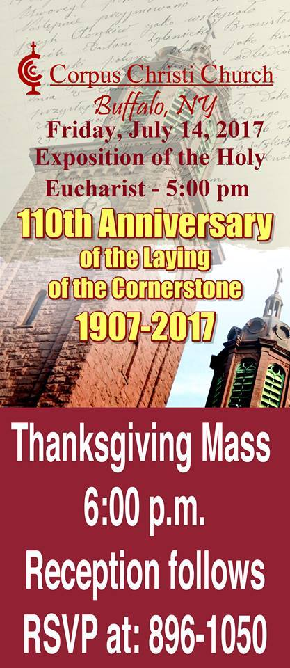 110th Anniversary of the Laying of the Cornerstone ...